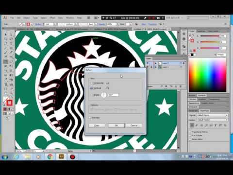 일러스트레이터 starbucks logo 제작 과정