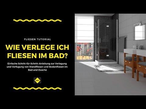 fliese auf fliese verlegen verfliesen einer dusche doovi. Black Bedroom Furniture Sets. Home Design Ideas