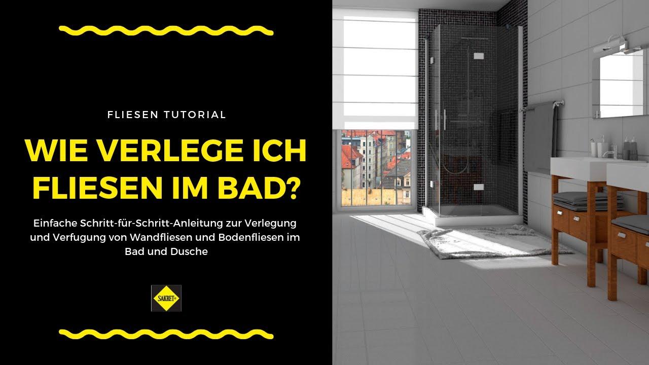 Wandfliesen und Bodenfliesen in Bad und Dusche verlegen und verfugen  NEU  SAKRET Heimwerker