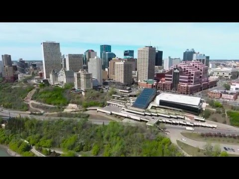 Flying around downtown Edmonton