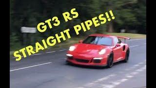 INSANE SOUNDS 9000rpm Porsche 911 GT3 RS STRAIGHT PIPES - LOUD!
