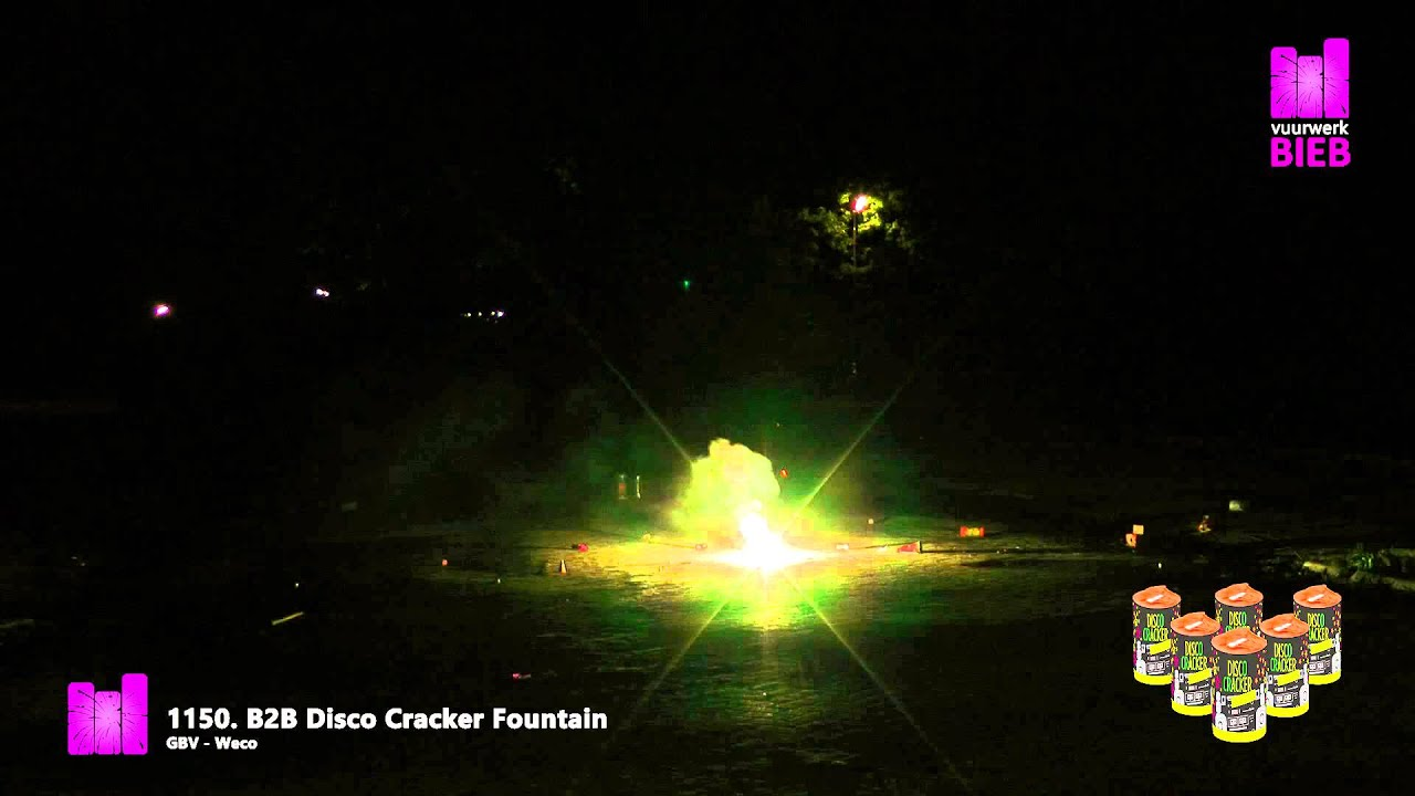 B2b Disco Cracker Fountain.B2b Disco Cracker Fountain Gbv Weco Vuurwerkbieb Nl