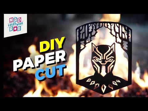 How to Make an Ultimate Paper Cut Design | Black Panther