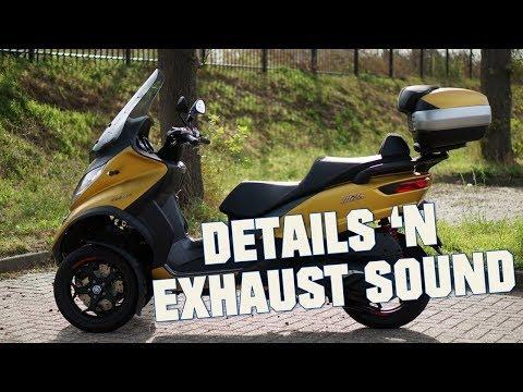 2019-piaggio-mp3-500-hpe---details-&-exhaust-sound