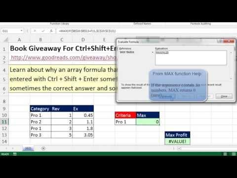Excel Magic Trick 1021: Implicit Intersection or #VALUE Error: No Ctrl + Shift + Enter