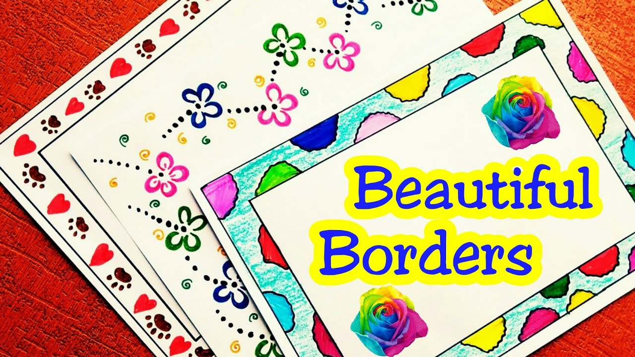 Chart Paper Border Decoration Ideas For School Project Arte Inspire