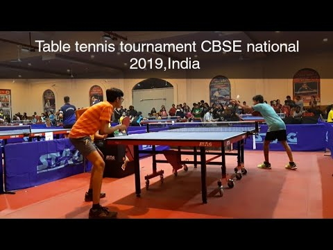 Table tennis tournament CBSE cluster nationals,India