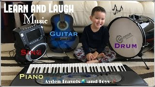 Learn and Laugh Music Toddler Reading | GUITAR PIANO DRUM SING | ABC song | Happy Birthday