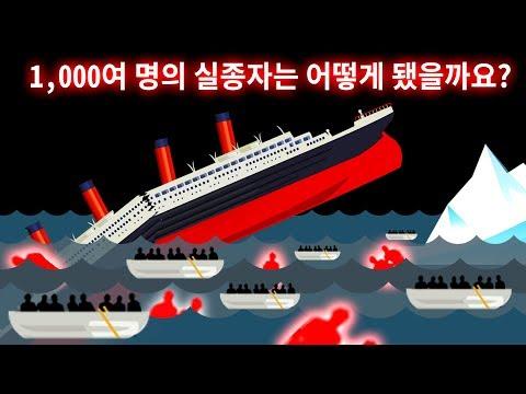 타이타닉호 침몰 실종자들에 관한 미스터리