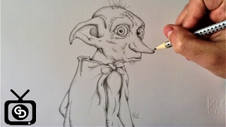 Drawing Dobby - Harry Potter