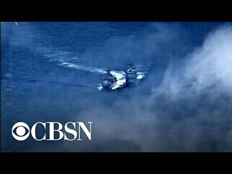 U.S. and Russia warships nearly collide