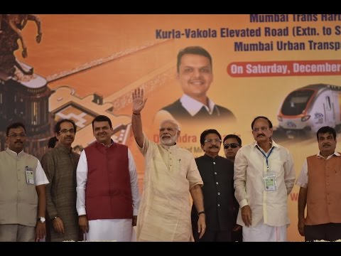 PM Modi Lays the Foundation Stone for Various Development Projects in Mumbai