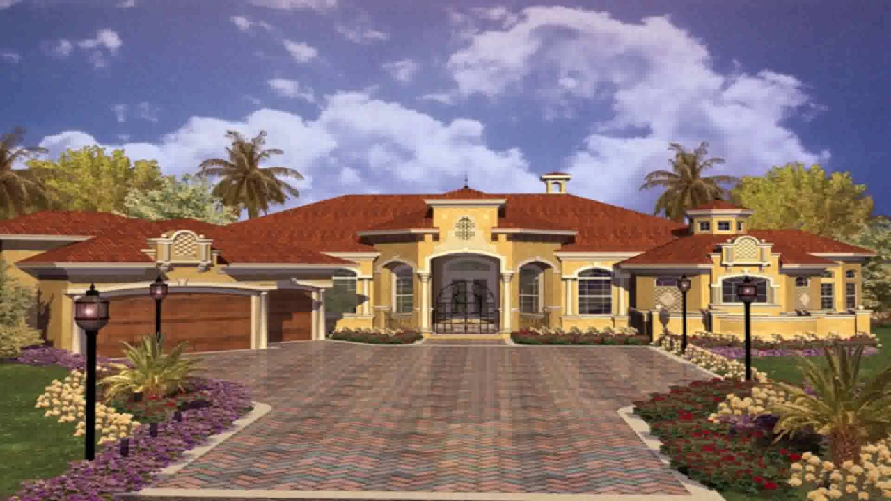 Spanish Style House Plans Small - YouTube