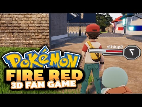 Pokémon Origin Fire Red 3D REMAKE! - (UPCOMING 3D FAN GAME!)