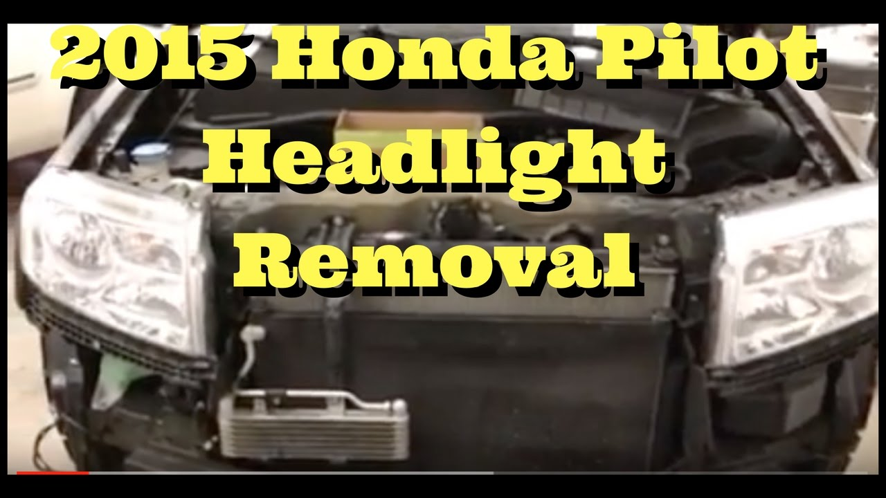 2009 2010 2011 2012 2013 2014 2015 Honda Pilot How To Remove Replace Wiring Harness Couplers Install Headlight