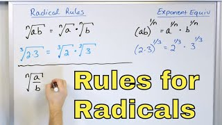 08 - Rules to Multiply & Divide Radicals in Algebra (Simplifying Radical Expressions)