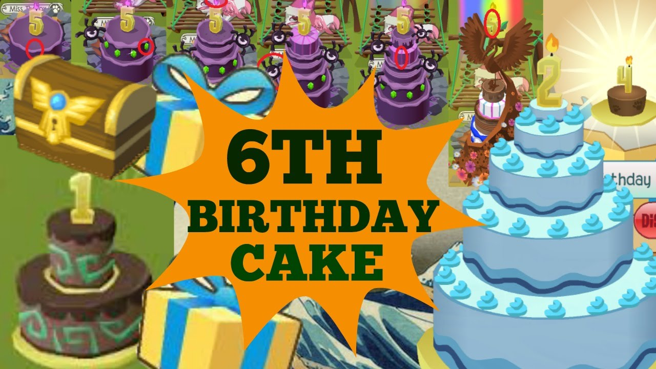 Animal Jam Sixth Birthday Cake