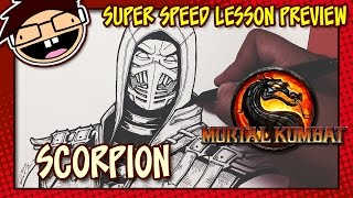 Lesson Preview: How to Draw SCORPION (Mortal Kombat X)