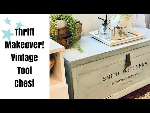 DIY Trash to Treasure! Thrift Store Makeover #10 | Vintage Tool Chest! Farmhouse/Cottage Decor