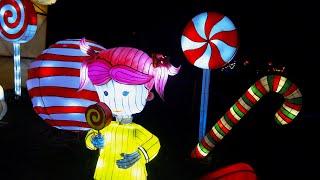 Шоу китайских фонариков 2. Светящиеся фигуры. Литва. | Chinese Lanterns Color Show. Lithuania