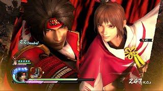 Samurai Warriors 4 [PS4] - Yukimura Sanada and Kunoichi Gameplay (Story Mode Nightmare Difficulty)