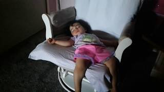 Adi sleeping on the rocking chair | Growth spurth | Smiling in her sleep | Exhausted Baby