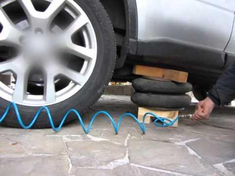 видео: Пневматический домкрат своими руками - быстро поднять машину
