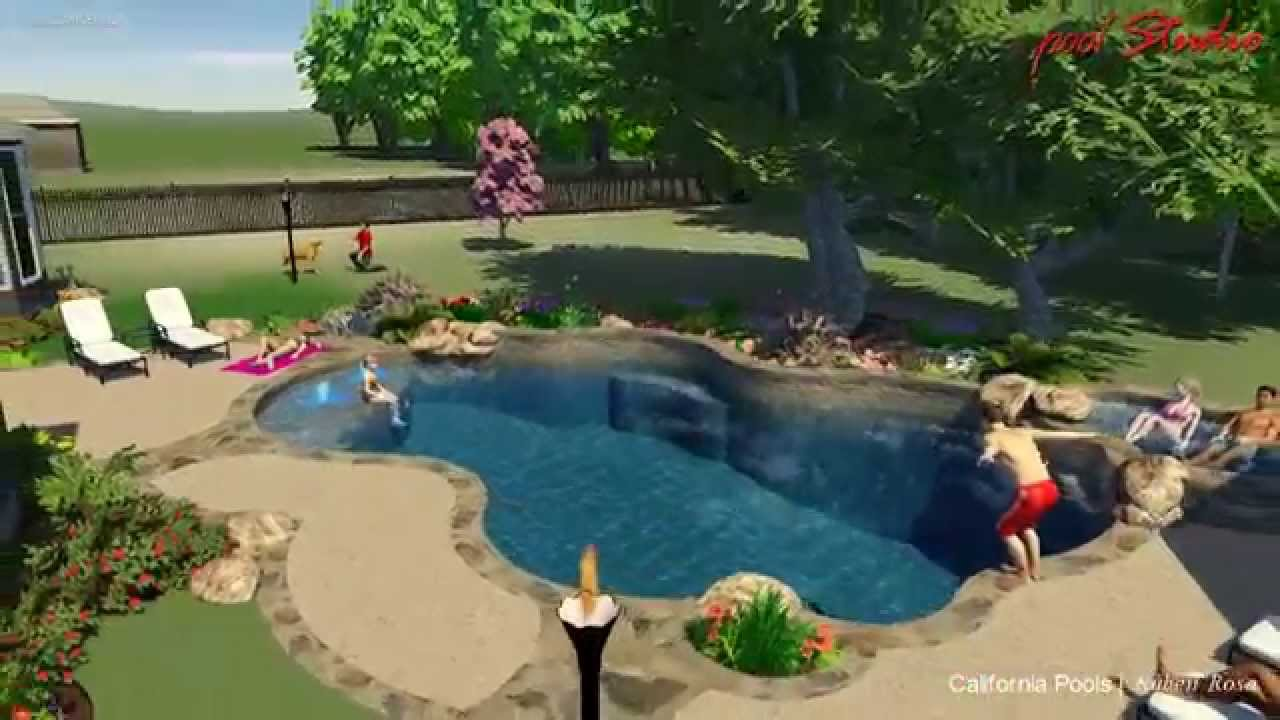 San Antonio Backyard With A Custom Swimming Pool And Outdoor Kitchen Youtube