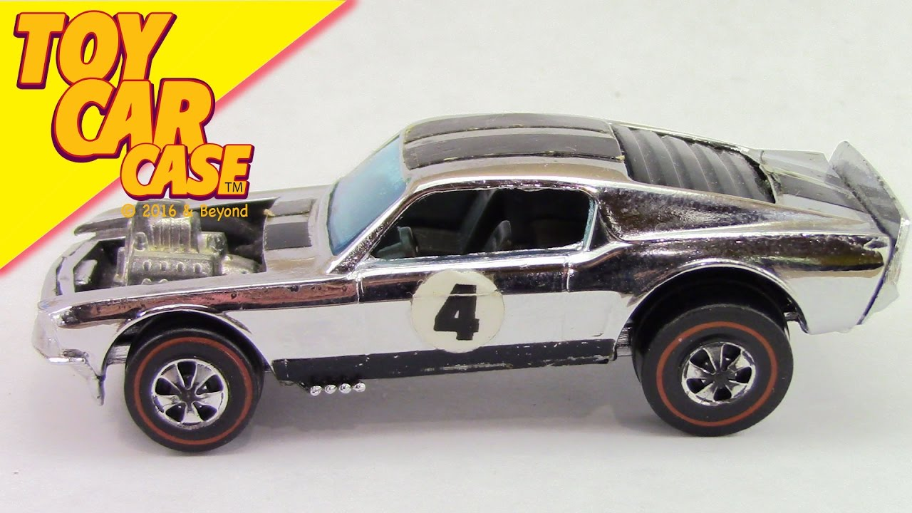 Hot wheels mustang boss hoss red line 1969 chrome