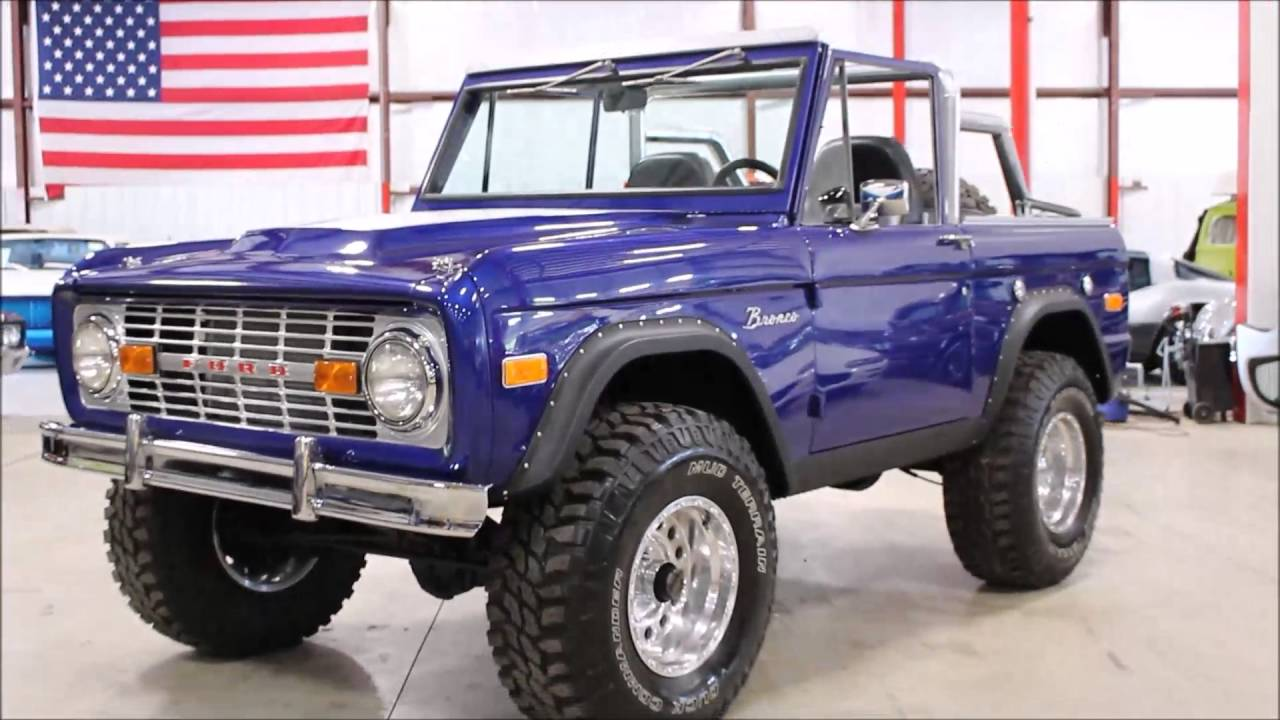 1972 ford bronco blue youtube