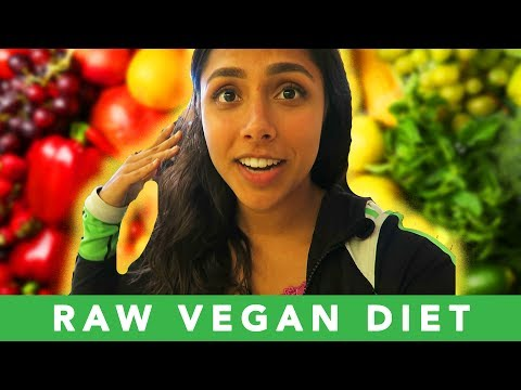 Trying The RAW VEGAN DIET For A Week 🥕 (No animal products o