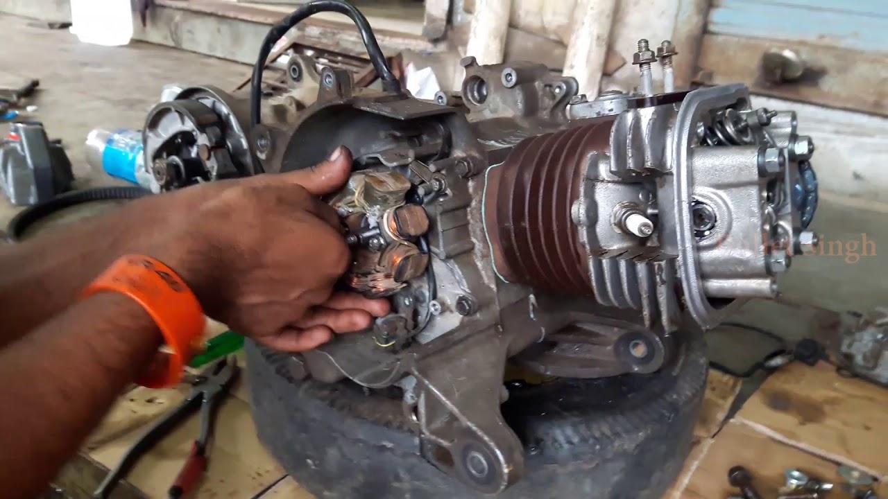 honda activa full engine fitting - bullet singh boisar