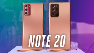 Galaxy Note 20 and 20 Ultra: two very different phones