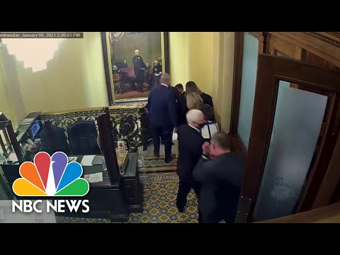 Impeachment Managers Show Video Of Pence Being Rushed Away From Capitol Rioters | NBC News