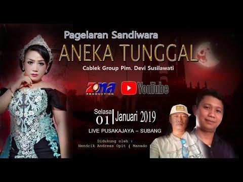 LIVE SANDIWARA  ANEKA TUNGGAL | PUSAKAJAYA SUBANG | SELASA 01/01/2019