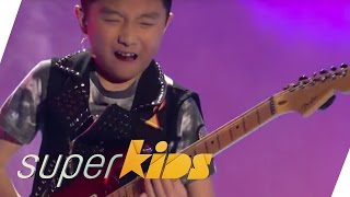Jeremy Yong (11yrs old) E-Guitar Solo | Superkids