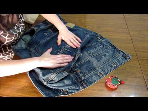 Как сделать жилетку из джинсовой куртки своими руками фото