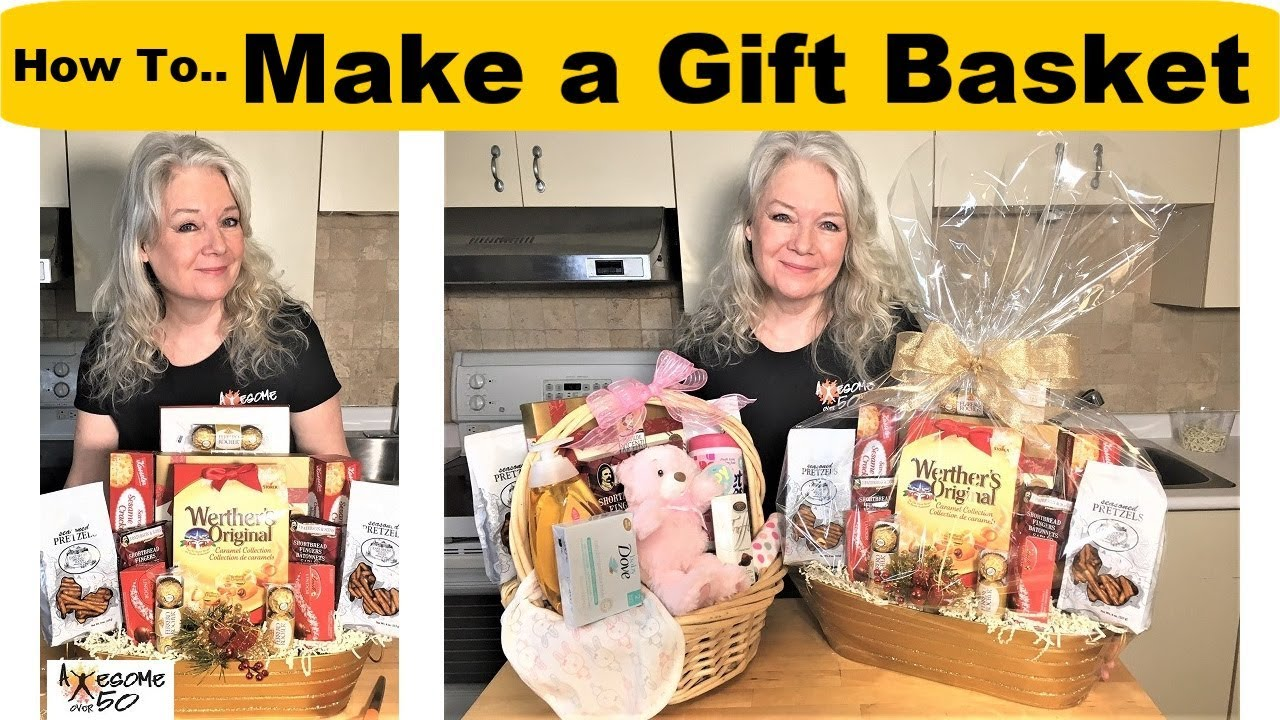 How To Make Gift Baskets For Christmas Baby Birthday Other Gifts Men Women Crafts Over 50 Youtube
