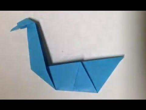 faire un cygne en origami pliage en papier youtube. Black Bedroom Furniture Sets. Home Design Ideas