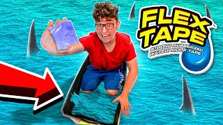 Using FLEX TAPE To Save MYSELF In A SINKING BOAT!