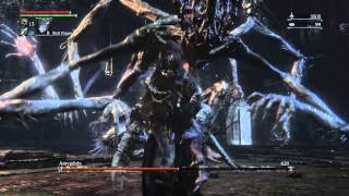 Bloodborne Amygdala Defiled chalice dungeon boss fight