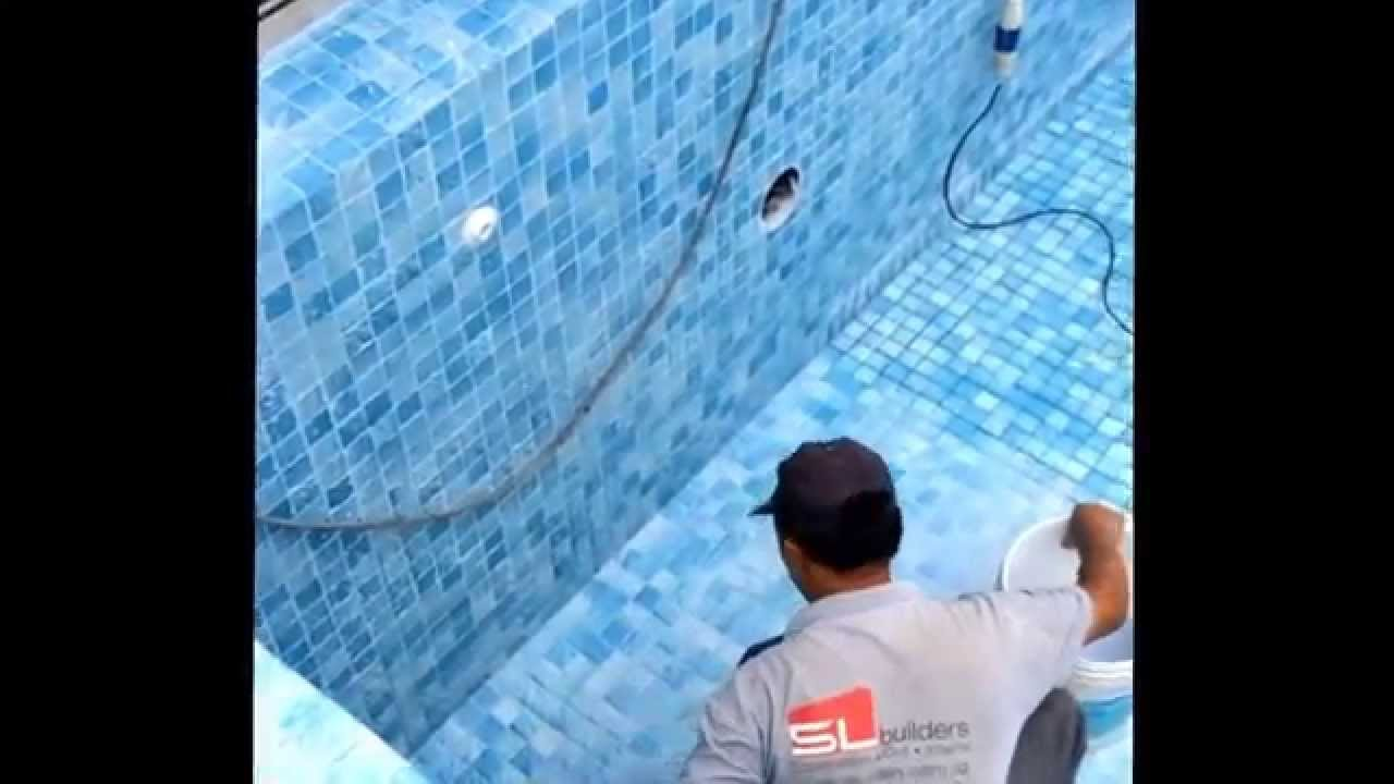 swimming pool tiles grout filler and