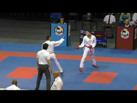 Douglas Brose BRA Vs Elvis Ramic USA - 2019 WKF Karate Series A Montreal Male Kumite -60KG