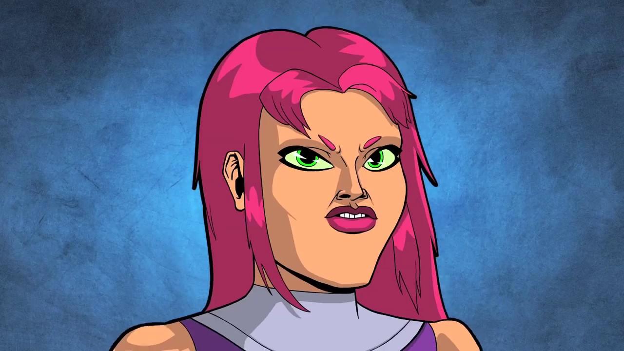 Teen Titans Go Teeny Titans 80s Starfire, 80s Beast Boy
