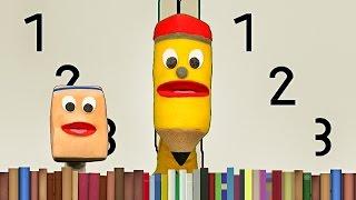 Cómo Dibujar Los Números 1 2 y 3 Para Niños - Videos Infantiles Educativos - Jack El Lápiz Escritor