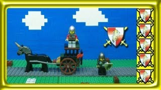 Lego Kingdoms - Prison Carriage Rescue - Stop Motion Build Review - Set 7949
