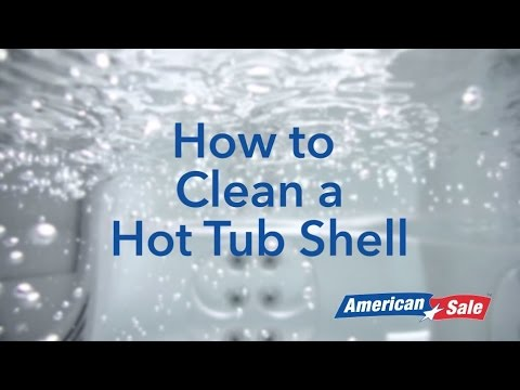 How to Clean a Hot Tub Shell
