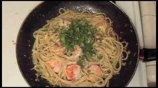 Lemon Garlic Shrimp Linguini Recipe - Delicious Italian Food With Fresh Herbs [hd]