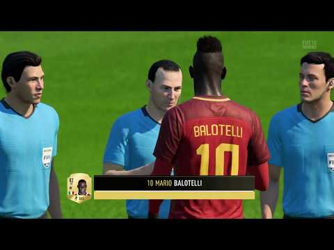 FIFA18 PS4 FUT 01 Mario Balotelli debut hat-trick 10 Oct