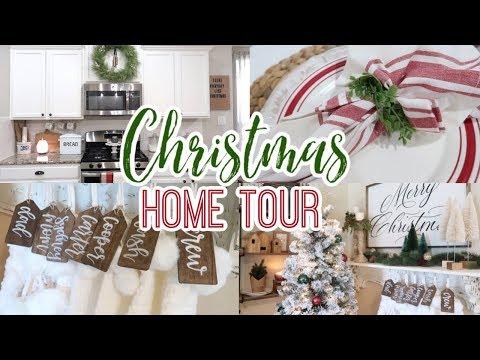 CHRISTMAS HOME DECOR TOUR   FARMHOUSE CHRISTMAS DECOR 2019